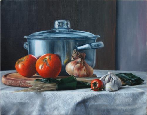 Daniel Chiriac, Italian diner, Still life, Realism