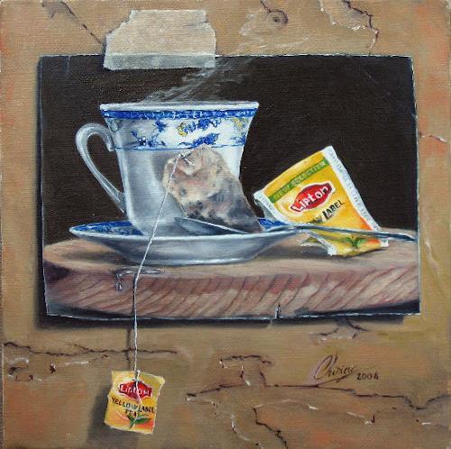 Daniel Chiriac, Five o'clock, Still life, Surrealism, Expressionism