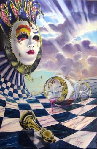 Daniel Chiriac, Facade and masquerade, Carnival, Surrealism, Expressionism