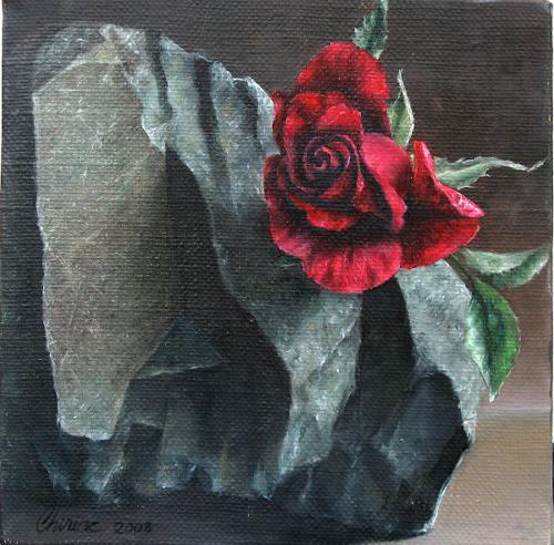 Daniel Chiriac, Stronger then stone, Plants: Flowers, Nature: Rock, Realism