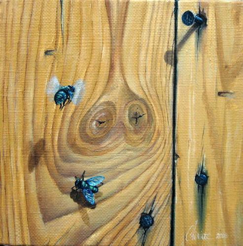 Daniel Chiriac, Flies, Animals: Air, Nature: Wood, Realism