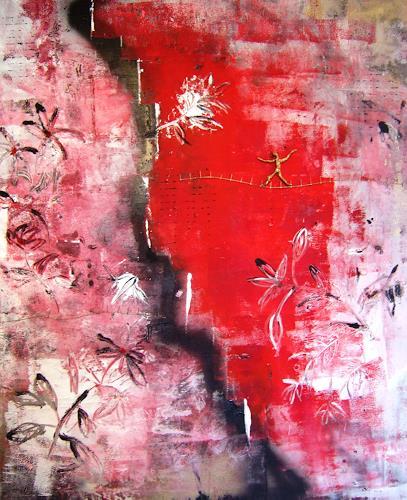 Astrid Strahm, Goldene Zeiten II, Fantasy, Emotions: Fear, Contemporary Art