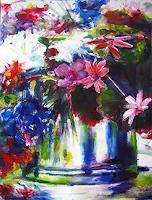 Renee-Koenig-Plants-Flowers-Still-life-Modern-Age-Expressive-Realism