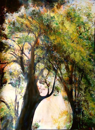 Renée König, Baumriese, Plants: Trees, Nature: Wood, Expressive Realism, Expressionism
