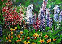 Renee-Koenig-Plants-Flowers-Times-Summer-Modern-Age-Impressionism-Neo-Impressionism