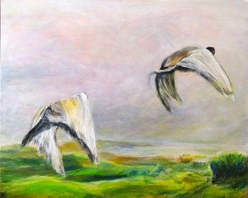 Renée König, Fliegen ..., Movement, Animals: Air, Contemporary Art
