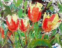 Renee-Koenig-Plants-Flowers-Still-life-Modern-Age-Abstract-Art