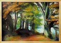 Renee-Koenig-Landscapes-Autumn-Plants-Trees-Modern-Age-Expressive-Realism