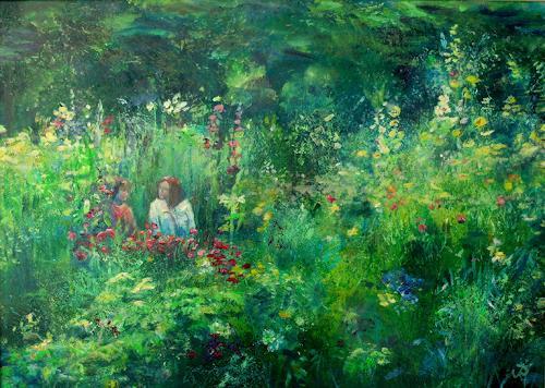 Renée König, In Liebermanns Garten, Interiors: Gardens, Plants: Flowers, Post-Impressionism, Expressionism