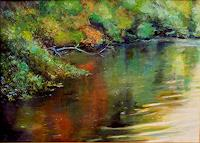 Renee-Koenig-Landscapes-Autumn-Nature-Water-Modern-Age-Impressionism-Post-Impressionism