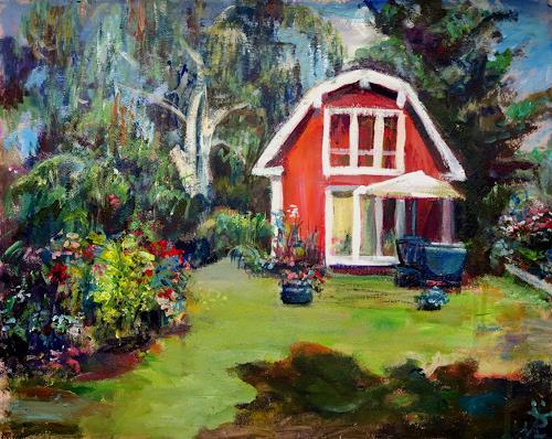 Renée König, Im Garten, Landscapes: Summer, Emotions: Safety, Post-Impressionism