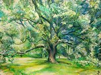 Renee-Koenig-Landscapes-Summer-Plants-Trees-Modern-Age-Impressionism-Post-Impressionism