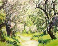 Renee-Koenig-Landscapes-Spring-Plants-Trees-Modern-Age-Impressionism-Post-Impressionism