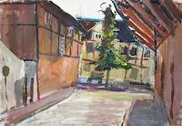Renee-Koenig-Buildings-Houses-Interiors-Cities-Modern-Age-Impressionism-Neo-Impressionism