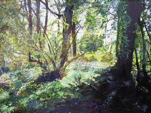 Renée König, Frühlingslicht, Landscapes: Spring, Poetry, Neo-Impressionism, Expressionism