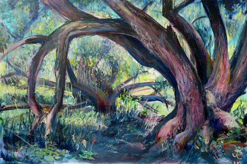 Renée König, Elbdickicht, Landscapes, Plants: Trees, Contemporary Art