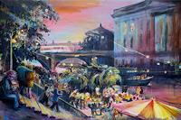 Renee-Koenig-Romantic-motifs-Sunset-Parties-Celebrations-Modern-Age-Impressionism-Neo-Impressionism
