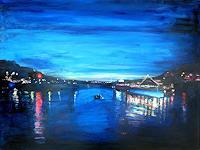 Renee-Koenig-Landscapes-Sea-Ocean-Romantic-motifs-Sunset-Modern-Age-Impressionism-Post-Impressionism
