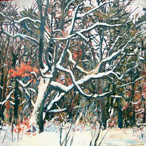 Renée König, Winterwald, Landscapes: Winter, Plants: Trees, Contemporary Art