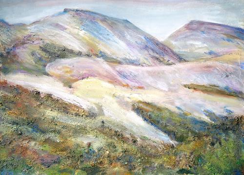Renée König, Islands Berge, Nature: Earth, Landscapes: Mountains, Post-Impressionism