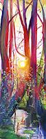 Renee-Koenig-Landscapes-Spring-Romantic-motifs-Sunset-Modern-Age-Expressive-Realism