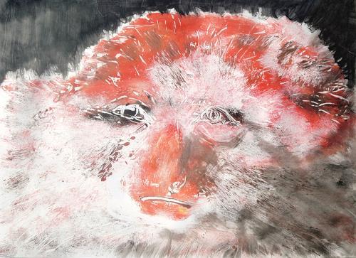 Renée König, Nachdenklicher Affe, Animals: Land, Miscellaneous Emotions, Contemporary Art