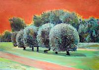 Renee-Koenig-Landscapes-Summer-Plants-Trees-Modern-Age-Expressionism-Neo-Expressionism