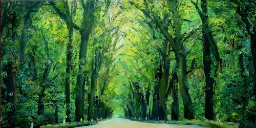 Renée König, Durch Brandenburg, Landscapes: Spring, Traffic: Car, Post-Impressionism