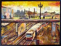 Renee-Koenig-The-world-of-work-Traffic-Railway-Modern-Age-Expressive-Realism