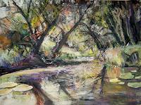 Renee-Koenig-Landscapes-Summer-Nature-Water-Modern-Age-Expressive-Realism