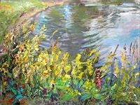 Renee-Koenig-Landscapes-Summer-Nature-Water-Modern-Age-Impressionism-Post-Impressionism