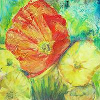 Renee-Koenig-Plants-Flowers-Decorative-Art-Modern-Age-Expressive-Realism