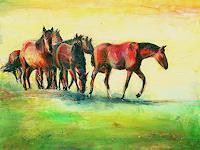 Renée König, Pferde auf den Elbwiesen