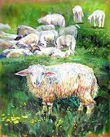 Renee-Koenig-Animals-Land-Landscapes-Summer-Modern-Age-Impressionism-Post-Impressionism