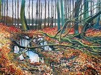 Renee-Koenig-Landscapes-Plains-Nature-Wood-Modern-Age-Impressionism-Post-Impressionism