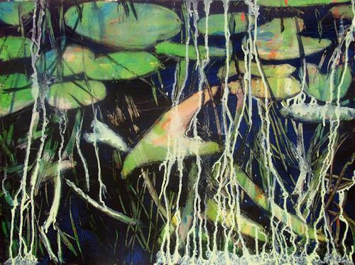 Renée König, Ein Gefühl von Spreewald, Miscellaneous Plants, Nature: Water, Neo-Expressionism