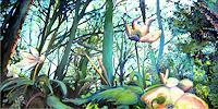 Renee-Koenig-Landscapes-Spring-Plants-Flowers-Modern-Age-Expressive-Realism