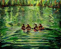 Renee-Koenig-Landscapes-Spring-Animals-Water-Modern-Age-Expressive-Realism