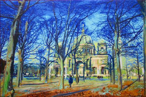 Renée König, Berliner Dom in der Märzsonne, Buildings: Churches, Interiors: Cities, Contemporary Art, Expressionism