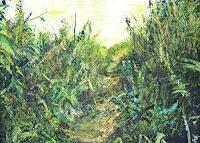 Renee-Koenig-Landscapes-Summer-Miscellaneous-Plants-Modern-Age-Impressionism-Neo-Impressionism