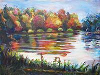 Renee-Koenig-Landscapes-Autumn-Landscapes-Plains-Modern-Age-Impressionism-Post-Impressionism