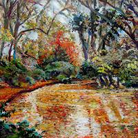 Renee-Koenig-Landscapes-Autumn-Nature-Water-Modern-Age-Impressionism-Post-Impressionism