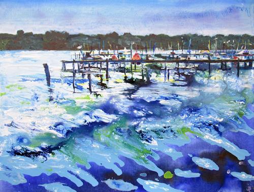 Renée König, Am Müggelsee, Landscapes: Sea/Ocean, Nature: Water, Expressive Realism