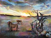 Renee-Koenig-Landscapes-Plains-Animals-Land-Modern-Age-Impressionism-Post-Impressionism