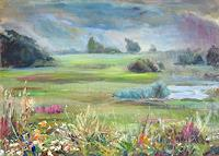 Renee-Koenig-Landscapes-Plains-Landscapes-Summer-Modern-Age-Impressionism-Post-Impressionism
