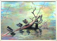 Renee-Koenig-Animals-Water-Landscapes-Sea-Ocean-Modern-Age-Impressionism-Post-Impressionism