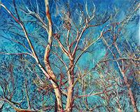 Renee-Koenig-Landscapes-Winter-Plants-Trees-Modern-Age-Impressionism-Post-Impressionism
