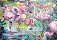 Renee-Koenig-Animals-Water-Nature-Wood-Modern-Age-Impressionism-Post-Impressionism