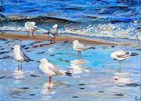 Renee-Koenig-Landscapes-Sea-Ocean-Animals-Air-Modern-Age-Impressionism-Post-Impressionism