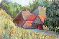 Renee-Koenig-Landscapes-Summer-Interiors-Villages-Modern-Age-Impressionism-Neo-Impressionism